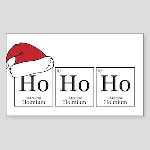 Ho Ho Ho [Chemical Elements] Sticker (Rectangle)